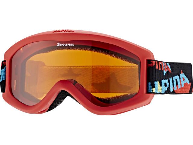 Alpina Carvy 2.0 Gafas de esquí Niños, slt s2/red